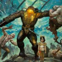 bioshock-2-subject-delta-sea-of-dreams-splicers-big-daddy-little-sister-games