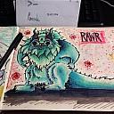 Sketchbook Original Content rawr monster Blackbook