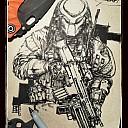 predator Draw army comic Trick or Treat Sanford Strider Knives SnG Tad gear skeleton key sharpie