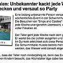 Scheiss-Event shiiiiiiit!! Einer von uns ging wohl nicht in die hose kunst installation Scheißverhalten Unbekannter der Hurensohn Ehrenmann Höchstalter 14 Morgen auf beichthaus.com